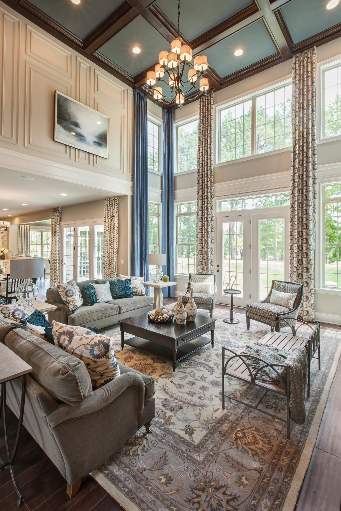 Family Living Room Designs: Toll Brothers At Hasentree, NC