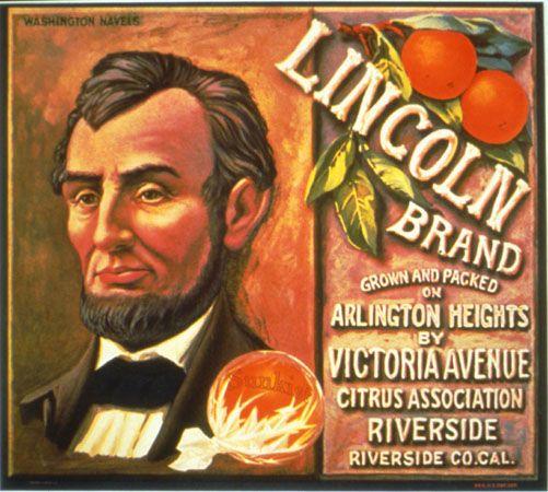 Riverside Arlington Heights Black Hawk Orange Citrus Fruit Crate Label Art Print