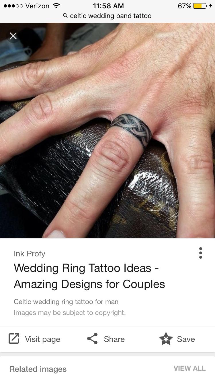Celtic Ring Ring Tattoos Wedding Band Tattoo Tattoo Wedding Rings