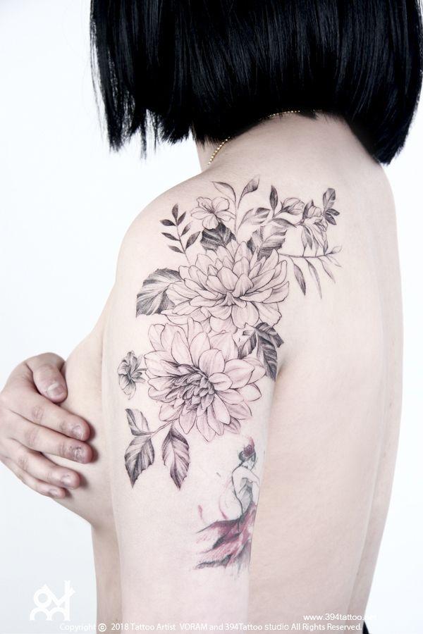 delicate flower tattoo