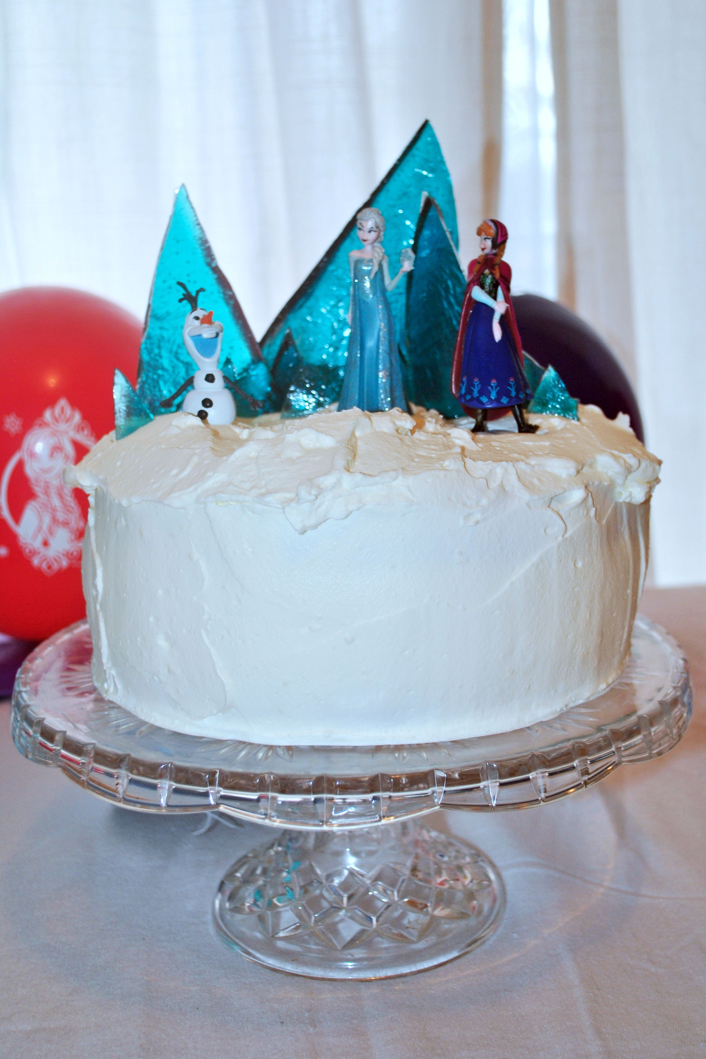 Frozen Cake Whipping Cream Icing Melted Sugar Shards For Ice