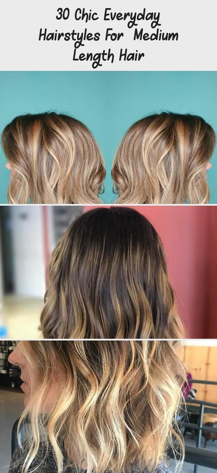 30 Chic Everyday Hairstyles for Medium Length Hair Medium length hair is simply ...,  #Chic #Everyday #everydayhairstylesbrunette #hair #Hairstyles #length #Medium #Simply