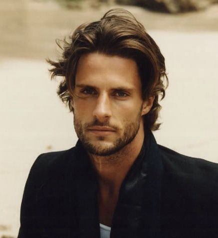 Handsome Scruffy Young Man Mens Hairstyles Medium Medium Hair Styles Mens Medium Length Hairstyles