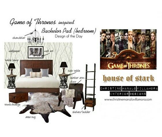 Game Of Thrones Leather Side Table Bachelor Pad Bedroom Interior Design