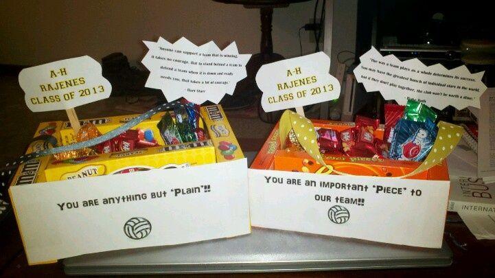 Volleyball Senior Night Gift Ideas Gift Baskets I Made