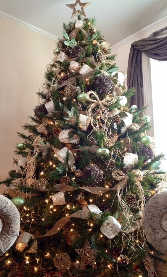 50+ DIY Christmas Tree Decorations that spells out Elegance in Bold Letters #blackchristmastreeideas