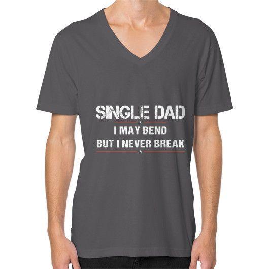SINGLE DAD V-Neck (on man)