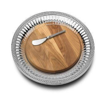 Wilton Armetale Flutes And Pearls Serving Tray And Cheese Board With Spreader Round 13 1 2 Inch Dillards Or Amazon Wilton Armetale Cheese Setting Wilton
