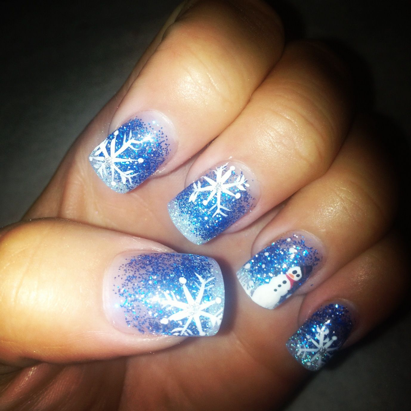 Winter Wonderland Themed Nails That Denise Did On Me