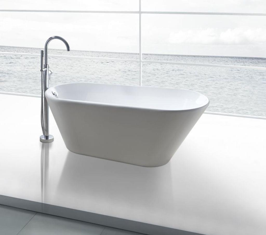 Modernes Design Durchgefarbtes Sanitaracryl Weiss 100 In Einem Stuck Gegossen Top Qualitat Inkl Uberlauf Und Pop Up A Freistehende Badewanne Badewanne Wanne