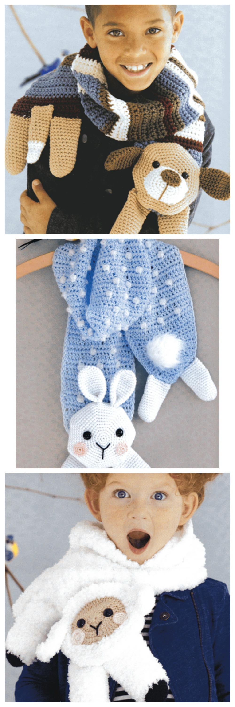 Amigurumi Animal Scarves crochet patterns from Annie\'s Craft Store ...