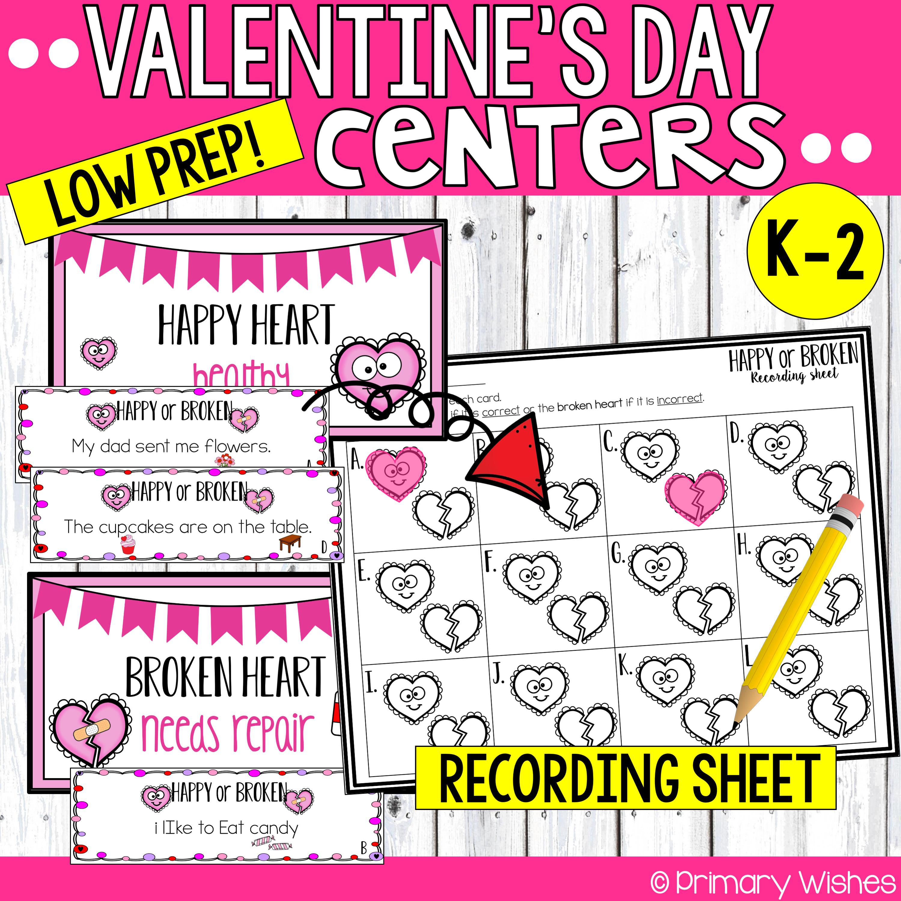 Valentine S Day Math Amp Literacy Activities