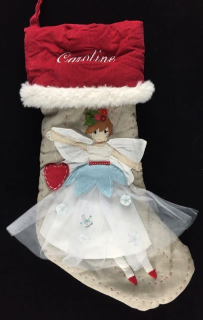 Pottery barn kids christmas woodland angel stocking *caroline* new ...