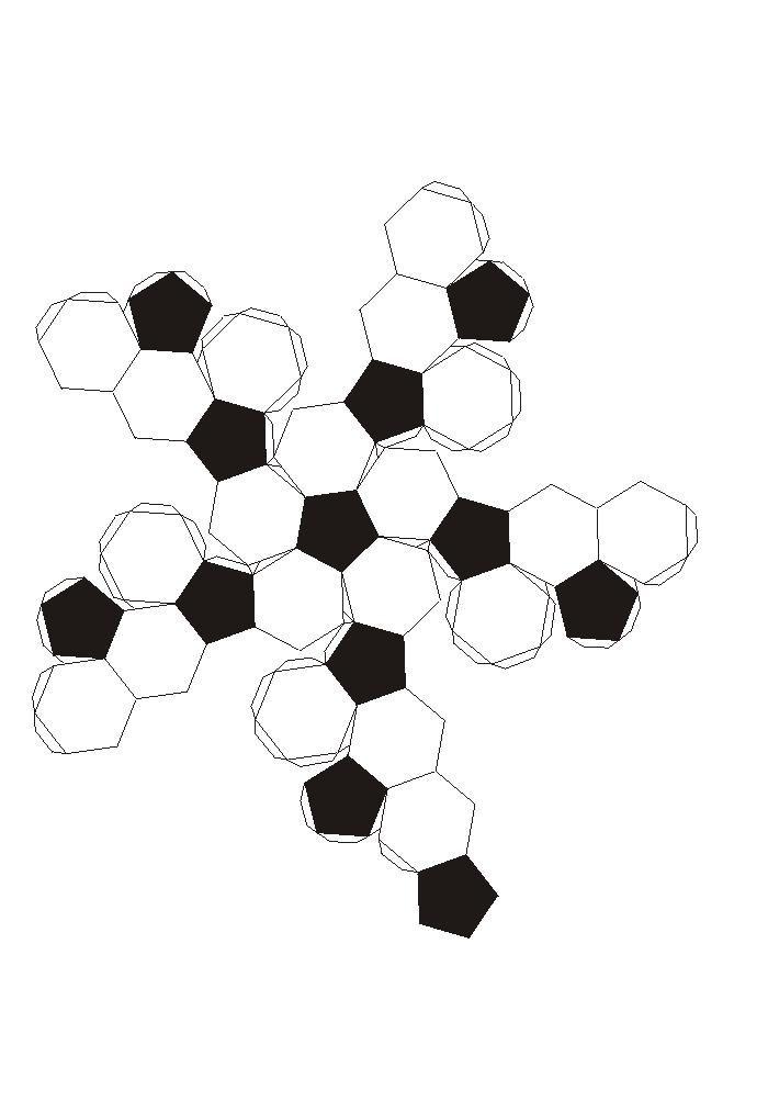 Icosaedro truncado.recortable figuras geometricas