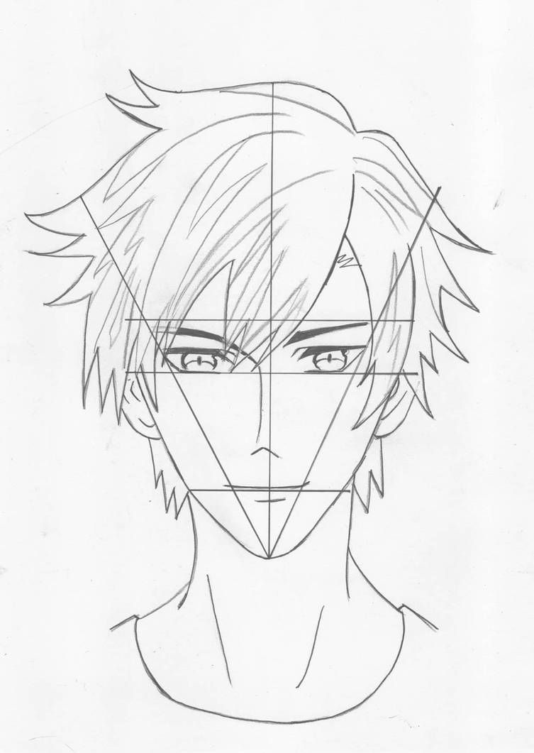 How To Draw A Anime Boy Face Step By Step Anime Face Drawing Drawing Anime Bodies Anime Drawings Sketches