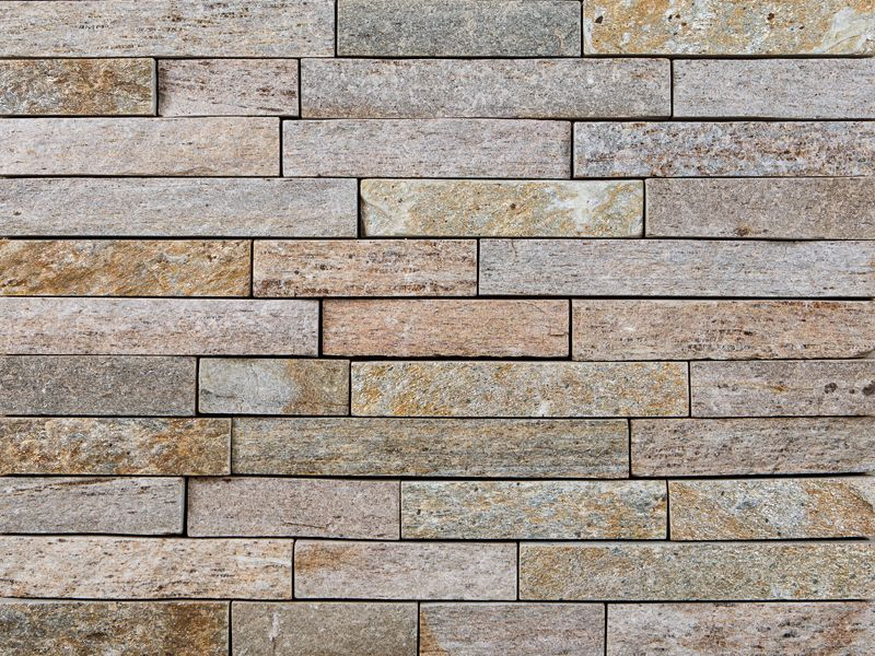 Colonial Tan Strips is a real, all natural Thin Stone Veneer that ...
