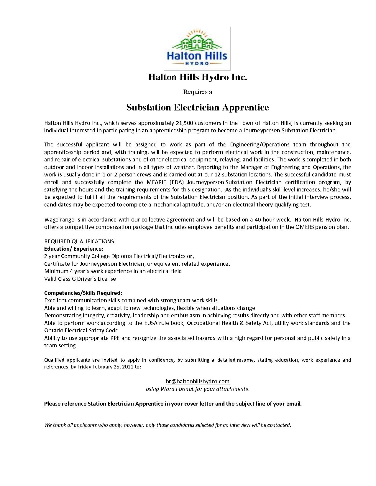 Electrician Apprentice Cover Letter Cover Latter Sample
