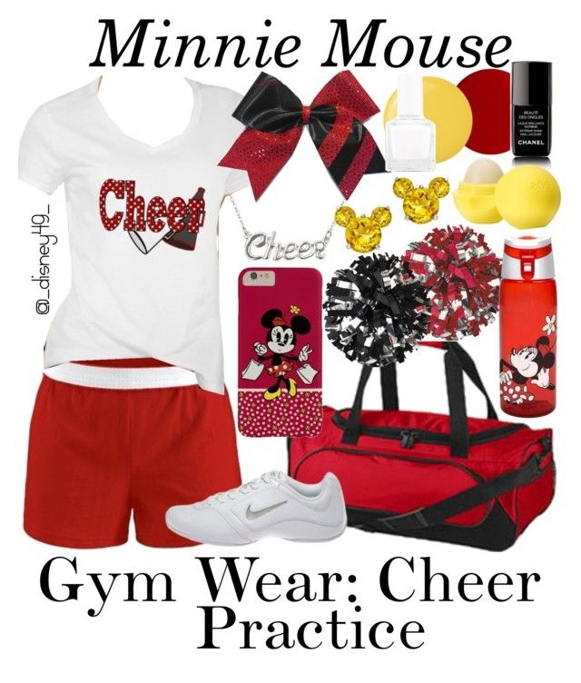 """""""Gym Wear- Cheer Practice: Minnie Mouse"""" by disney49 ❤ liked on Polyvore"""