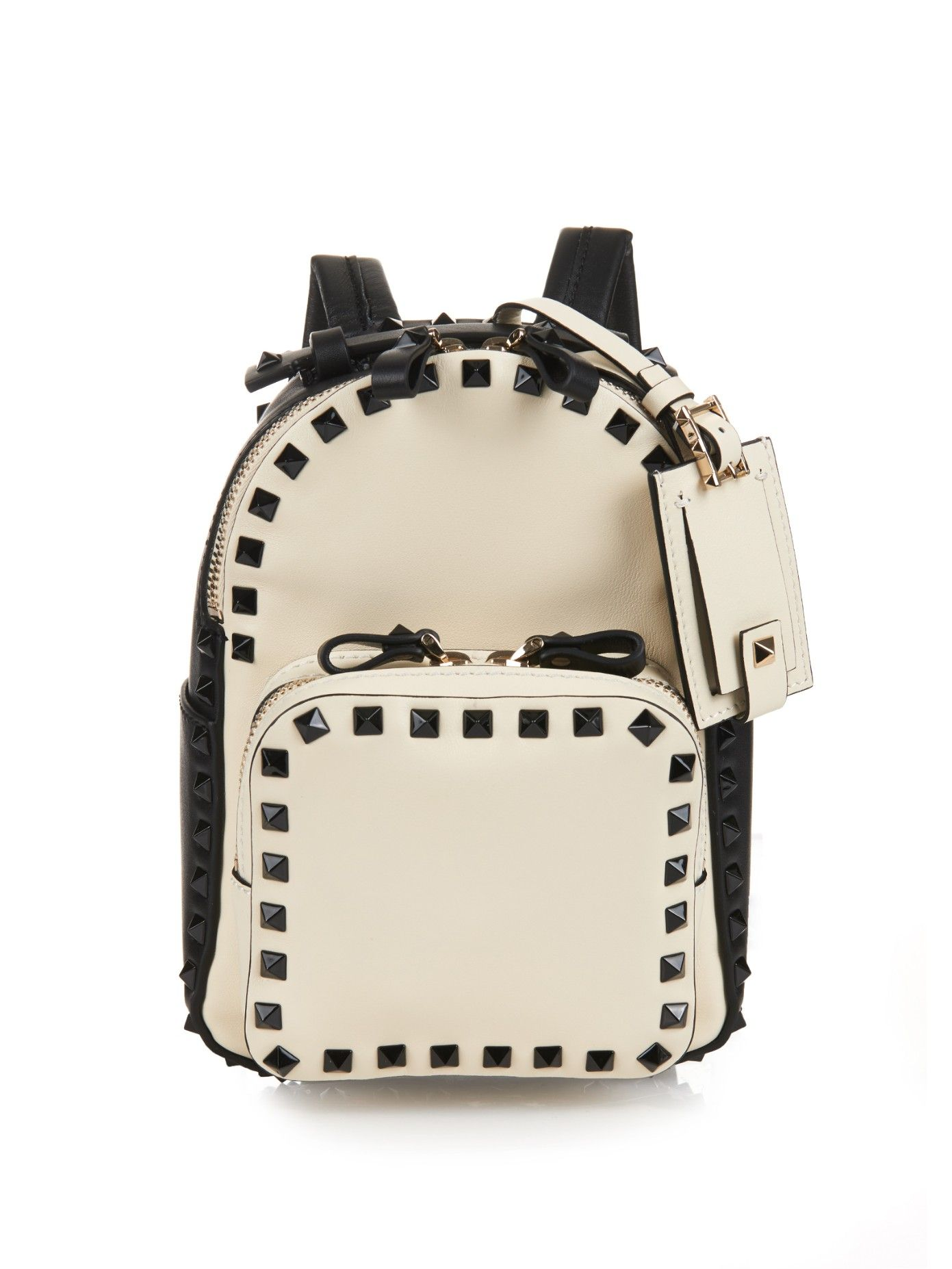 5ee76bb4bf VALENTINO Rockstud leather mini backpack | Bag Lady | Leather ...