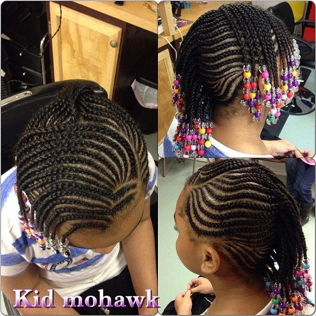 Kids Braids Mohawk Cute kid style. | Natural braiding ...