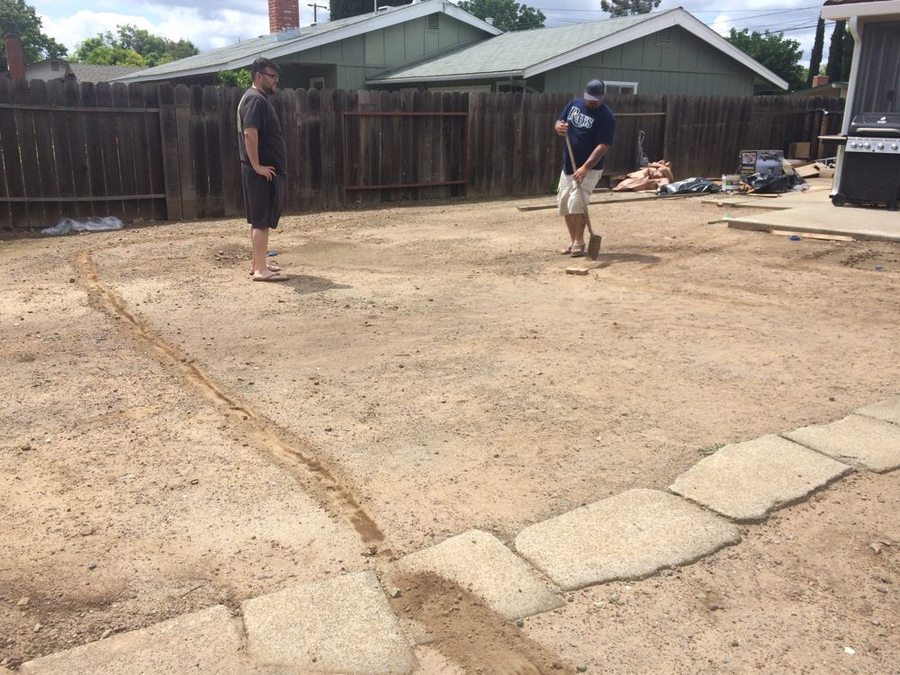 Photo of How our Backyard was Made | The Vintage Rug Shop
