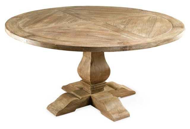 Clara Round Dining Table Weathered Sand 60 Round Dining Table