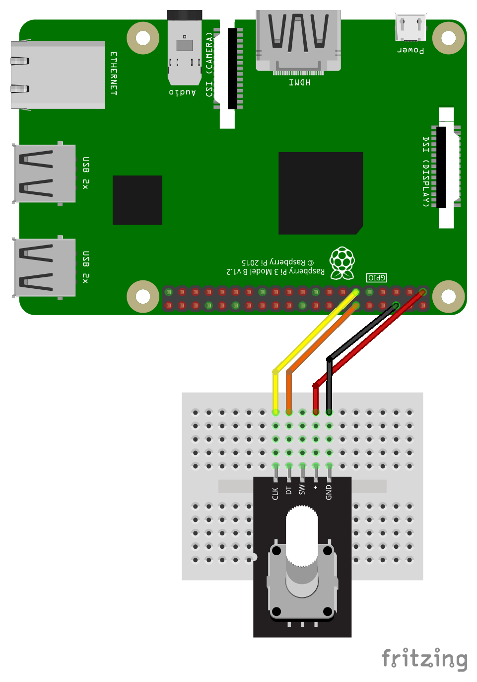 How to use a Rotary Encoder with the Raspberry Pi | Hiffari