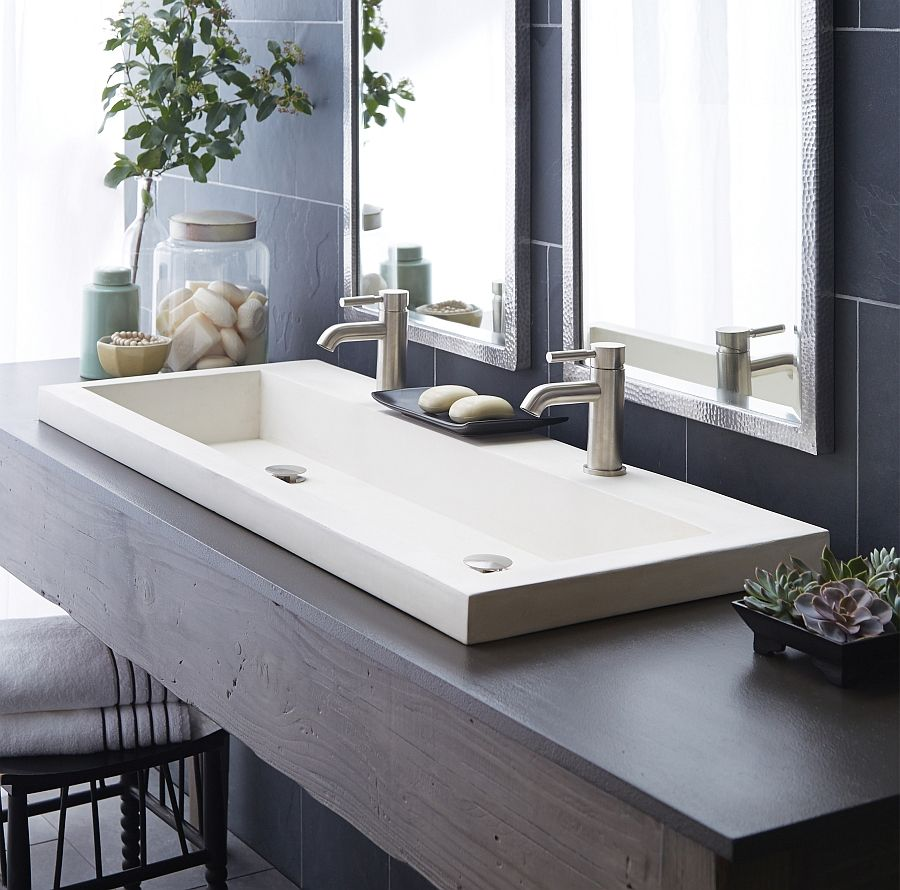 Eco conscious artisan crafted sinks sparkle with contemporary class