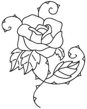 Rosa Con Espinas Flores Patrones De Bordado Dibujos De Flores Y