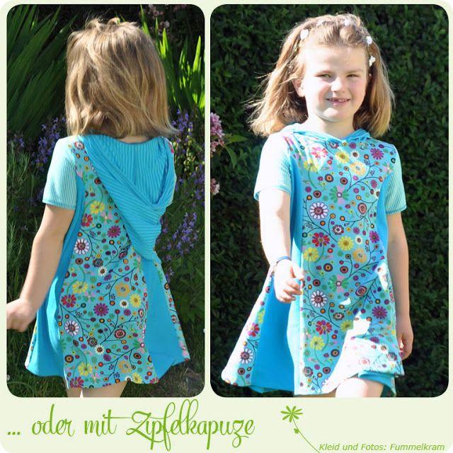 Fummelkram: Schnitt Kleid Smilla mit Kapuze aus Jersey (für Kinder ...