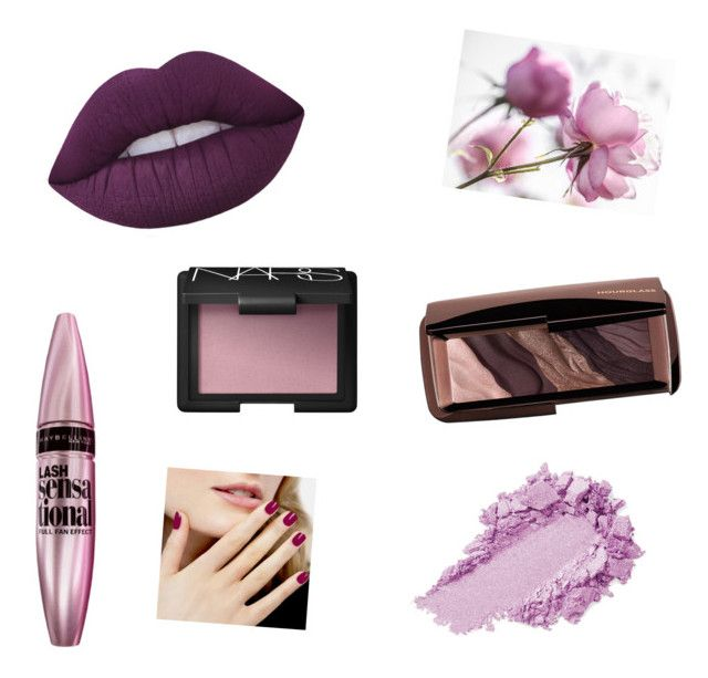 """""""Sin título #34"""" by loveclo on Polyvore featuring Belleza, Maybelline, Lime Crime, Hourglass Cosmetics y NARS Cosmetics"""