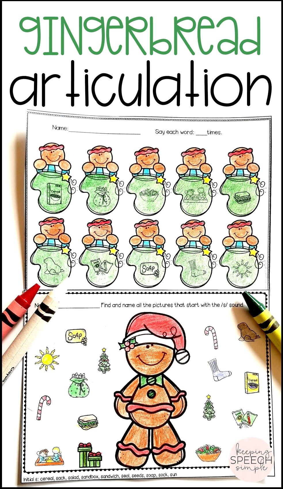 Check Out These Adorable No Prep Worksheets That Target A Variety Of Speech Targets All T Speech Therapy Activities Christmas Speech Therapy Speech Activities [ 1701 x 983 Pixel ]