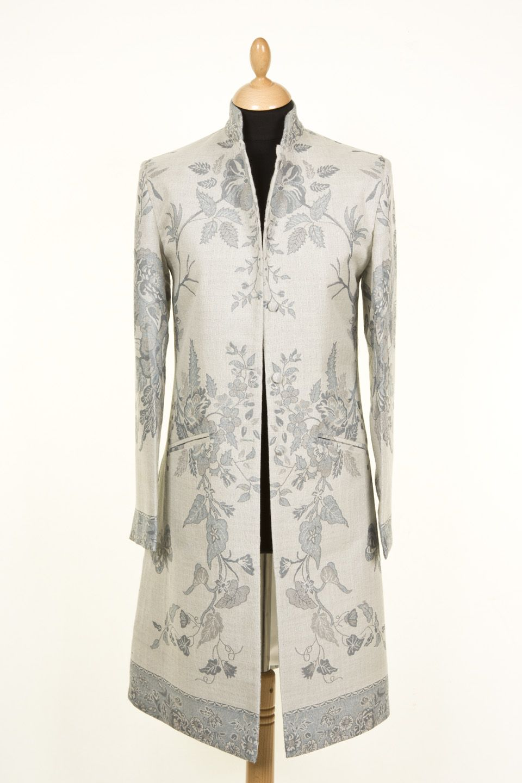 Nehru Coat in Duck Egg, Price £335.00 | women's jackets ...