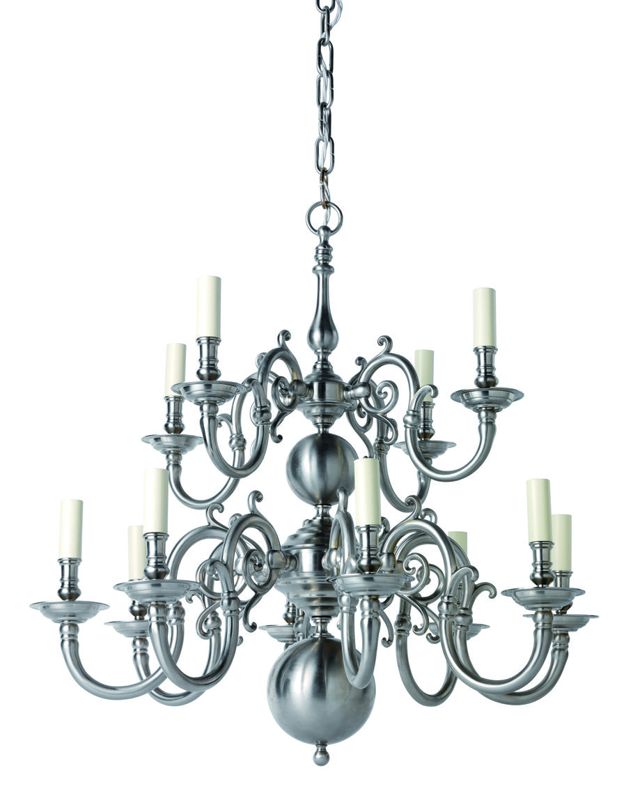 H2 025 12 light flemish chandelier shown in brushed nickel n h2 025 12 light flemish chandelier shown in brushed nickel arubaitofo Gallery