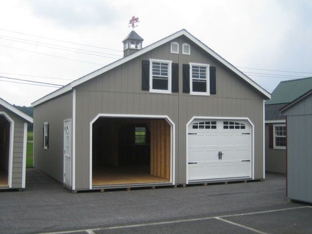 Amish 24x24 Double Wide Garage Shed Structure New Garage Shed Garage Door Design Garage Door Styles