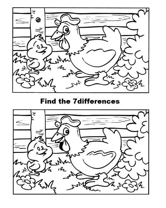 spot the difference for kids coloring pages