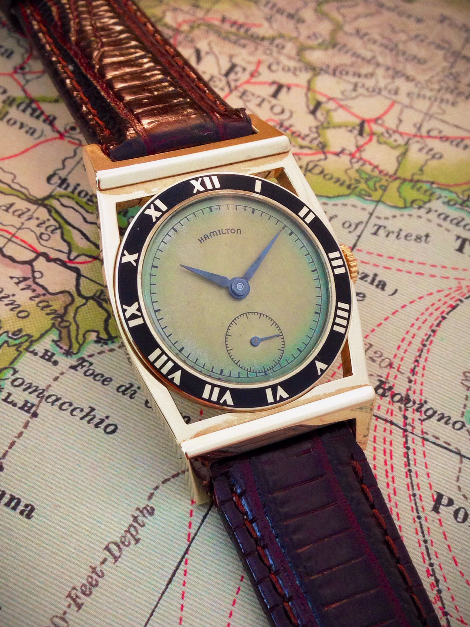 019ee3438 Lovely 1948 Hamilton Piping Rock, 14k. Image: finest hour vintage Hodinky  Rolex,