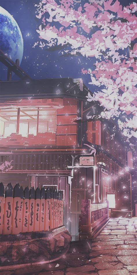 Aesthetic Anime Garden Purple Wallpapers - Wallpaper Cave