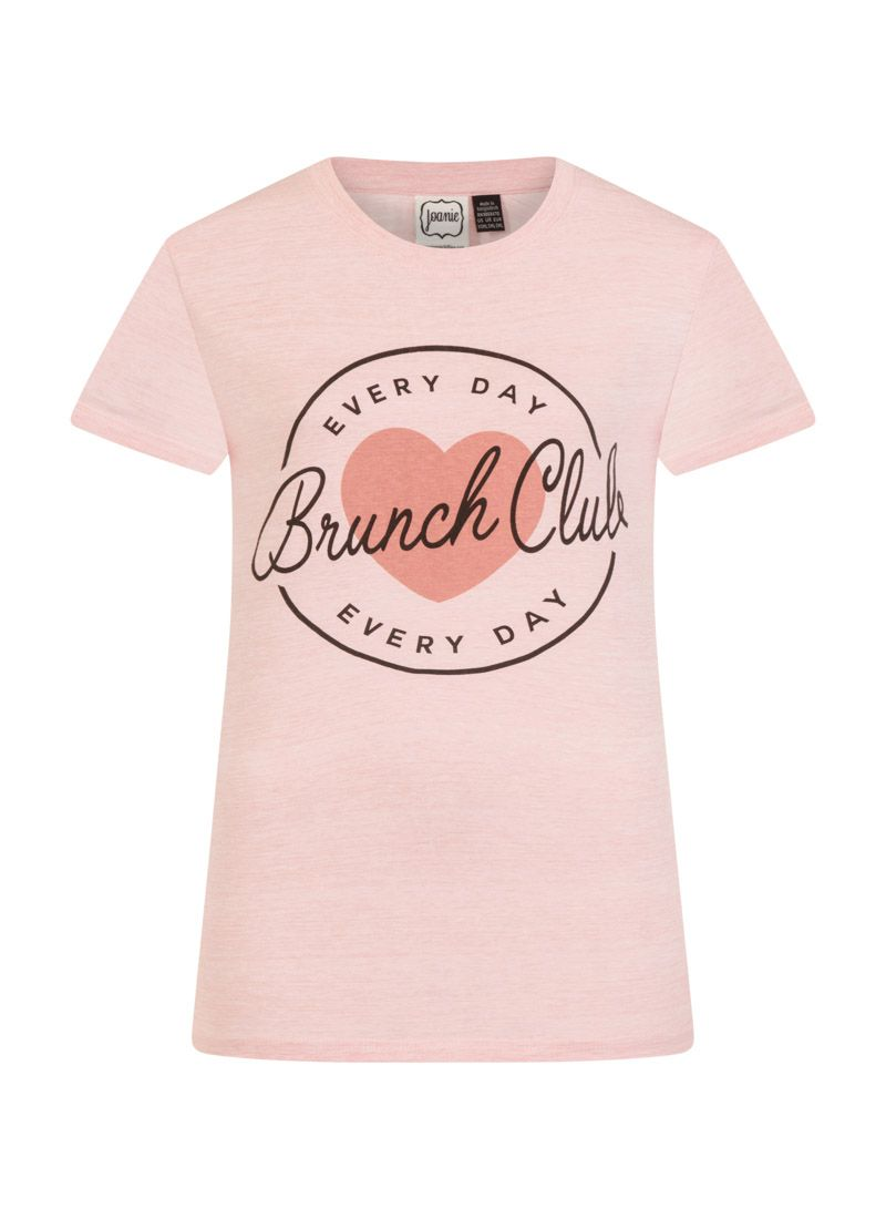 0e5401e9813 The Margot slogan top is a peachy pink  Everyday Brunch Club  T-shirt