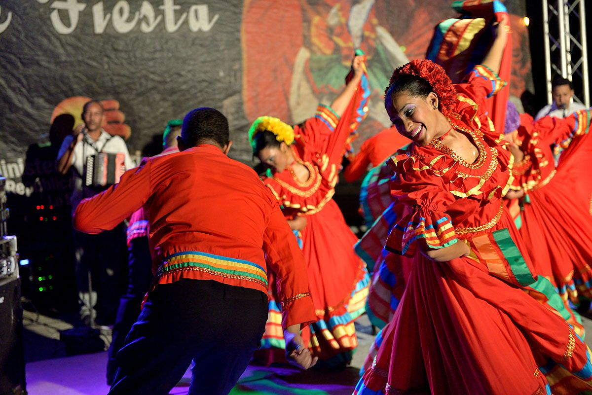 A free cultural dance show takes place on Plaza España every Friday and Saturday evening from 8pm to 10pm © Lebawit Girma / Lonely Planet
