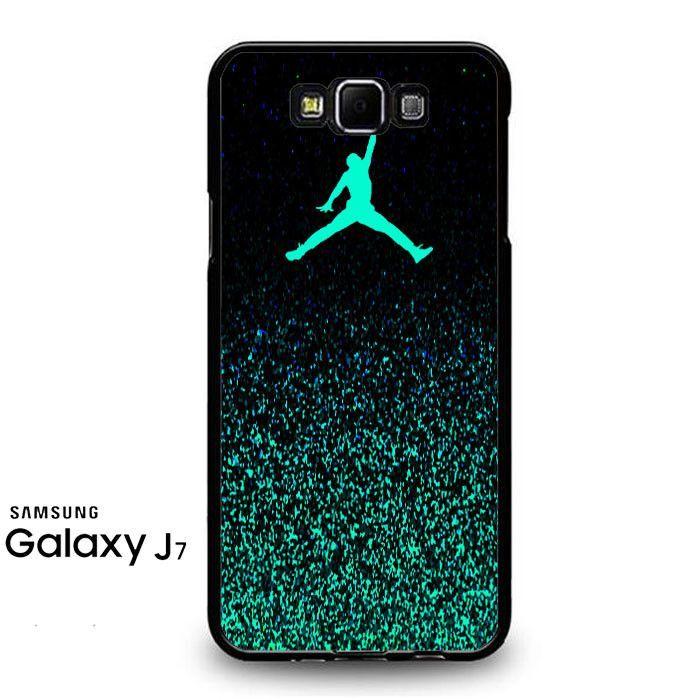 separation shoes 7beee 319c3 Nike Air Jordan Jump Mint Glitter Samsung Galaxy J7 Prime Case