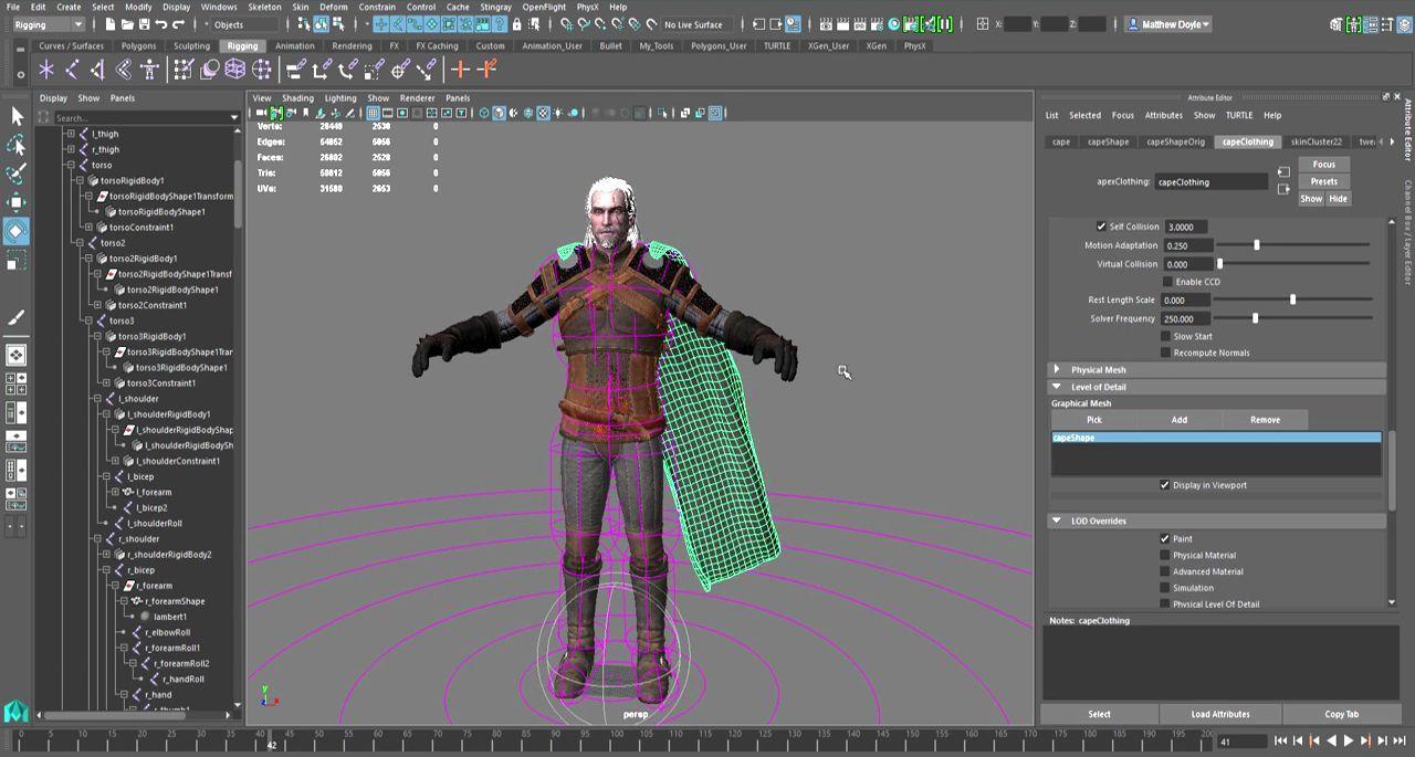 Stingray 1 3 and Maya LT ApexCloth | CGI 3D Tutorials | Maya