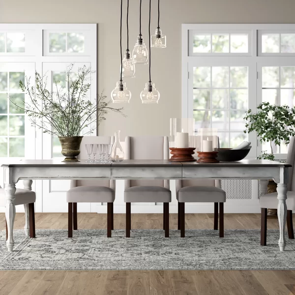 Lark Manor Tiphaine Extendable Dining Table Birch Lane Wood Dining Table Extendable Dining Table Dining Room Table