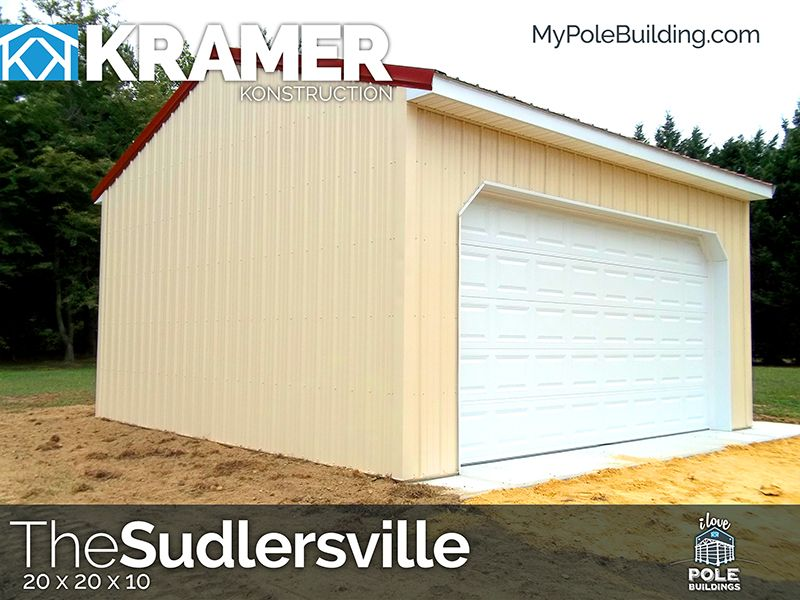The Sudlesville 20 X 20 X 10 View Configure And Price This Building At Http Www Mypolebuilding Com Pole Buildings Building Outdoor Structures
