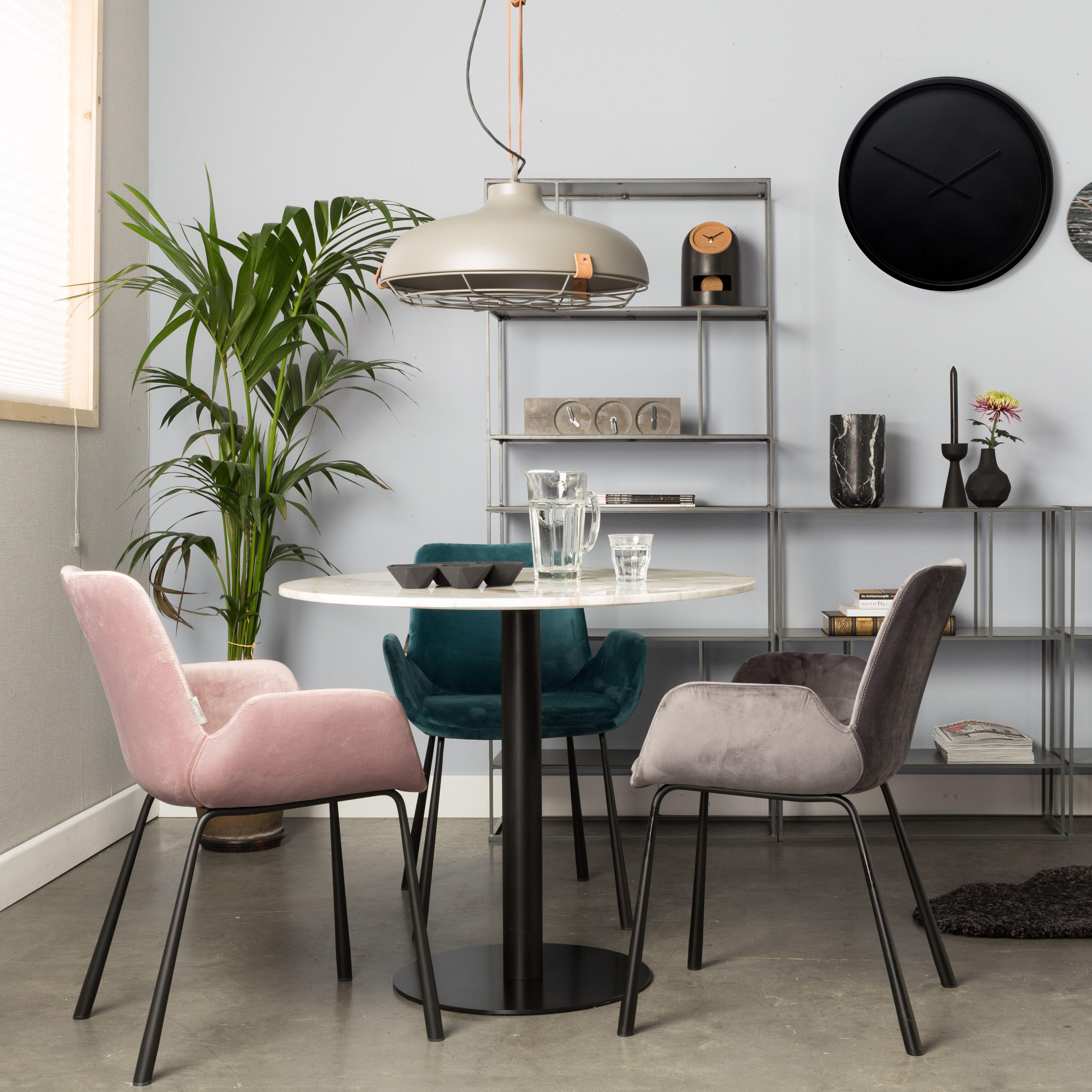 Zuiver Brit Armstoel - Fluwelen stoelen, Stoelen en Eetkamer