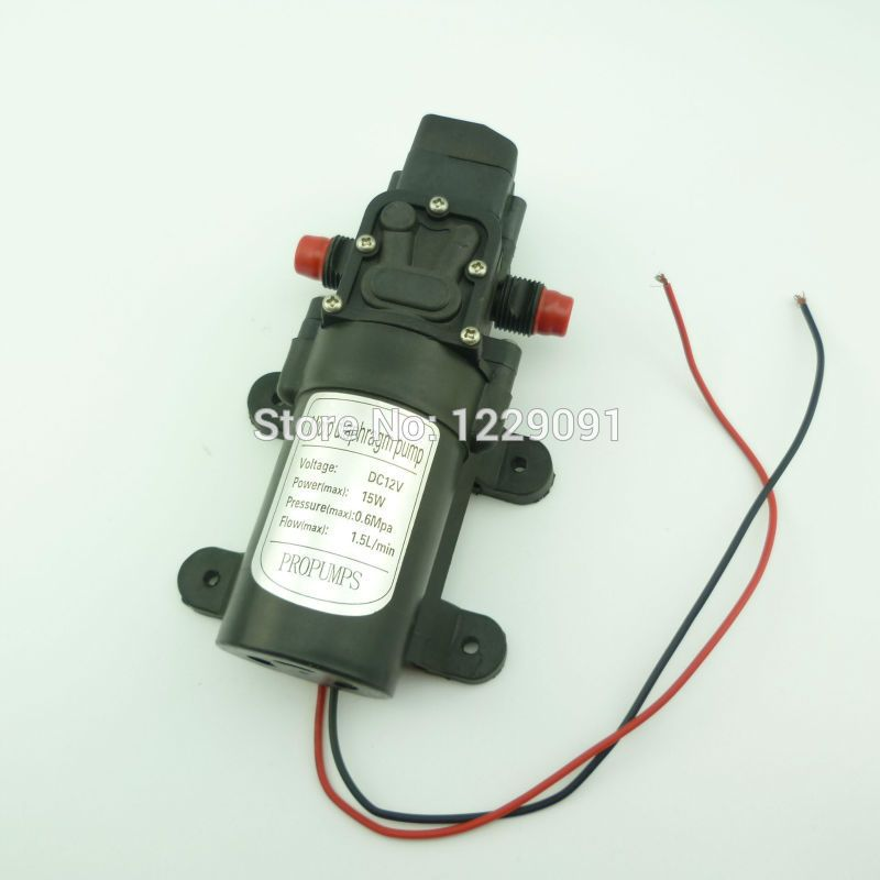 Battery Powered Automatic Pressure Switch Type 15w 1 5l Min 12v Dc Mini Water Pump Water Pumps Plumbing Power