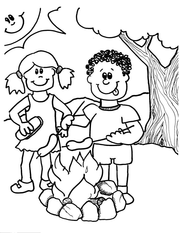 colorwithfuncom camping coloring pages for kids - Camping Coloring Pages