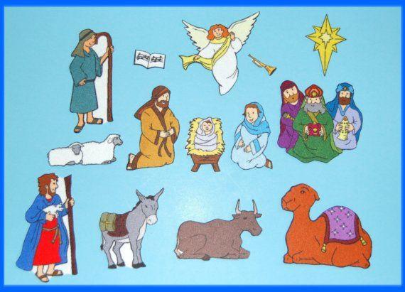 Birth of Jesus - Nativity Felt / Flannel Board Set- Christmas ...
