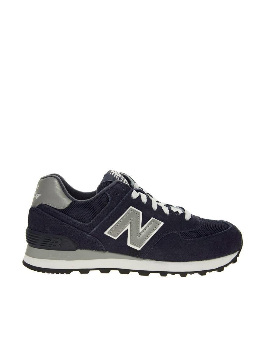 91036f9895291 New Balance | Zapatillas de deporte azul marino 574 de New Balance en ASOS