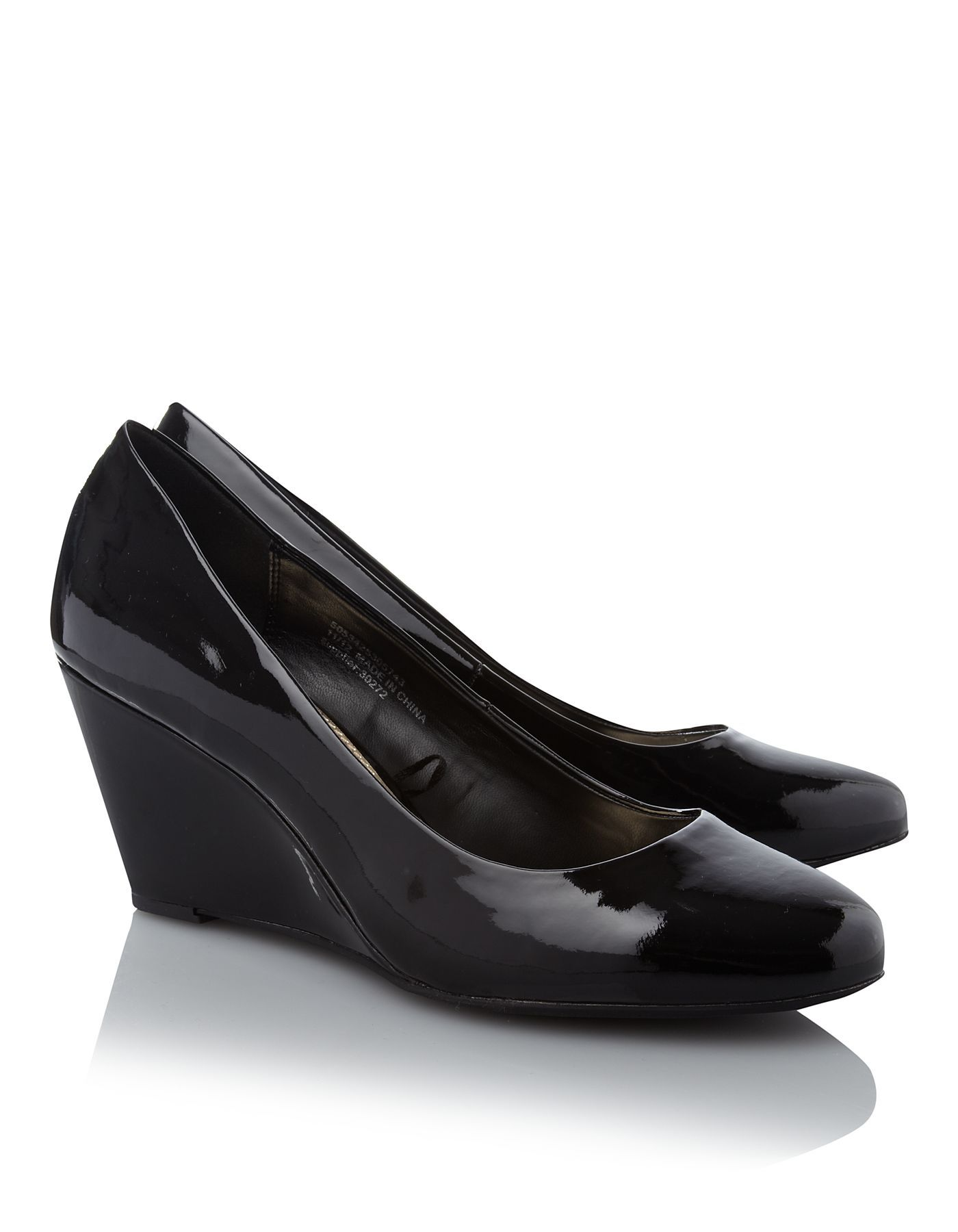 Patent Wedge Court Shoes  71d7b6f80df